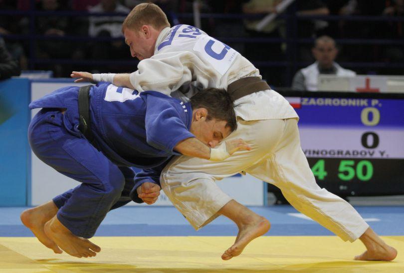 W 3. rundzie Zagrodnik stoczył najlepszą walkę z Yanem Vinogradovem (fot.PAP)