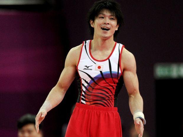 Kohei Uchimura był najlepszy w ćwiczeniach na poręczach (fot. Getty Images)