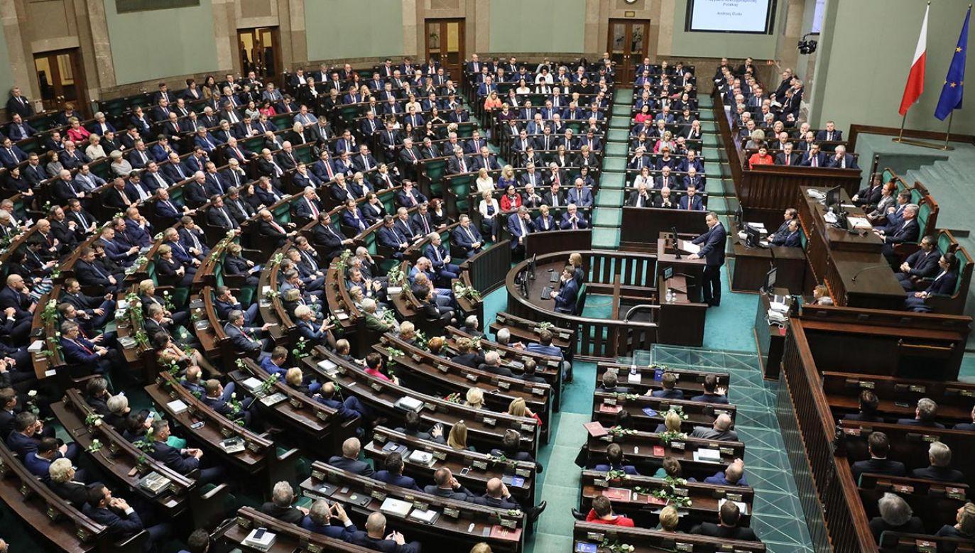 gromadzenie Narodowe, wobec którego Andrzej Duda złoży przysięgę i rozpocznie drugą kadencją na stanowisku prezydenta RP odbędzie się w czwartek (fot. PAP/Paweł Supernak)