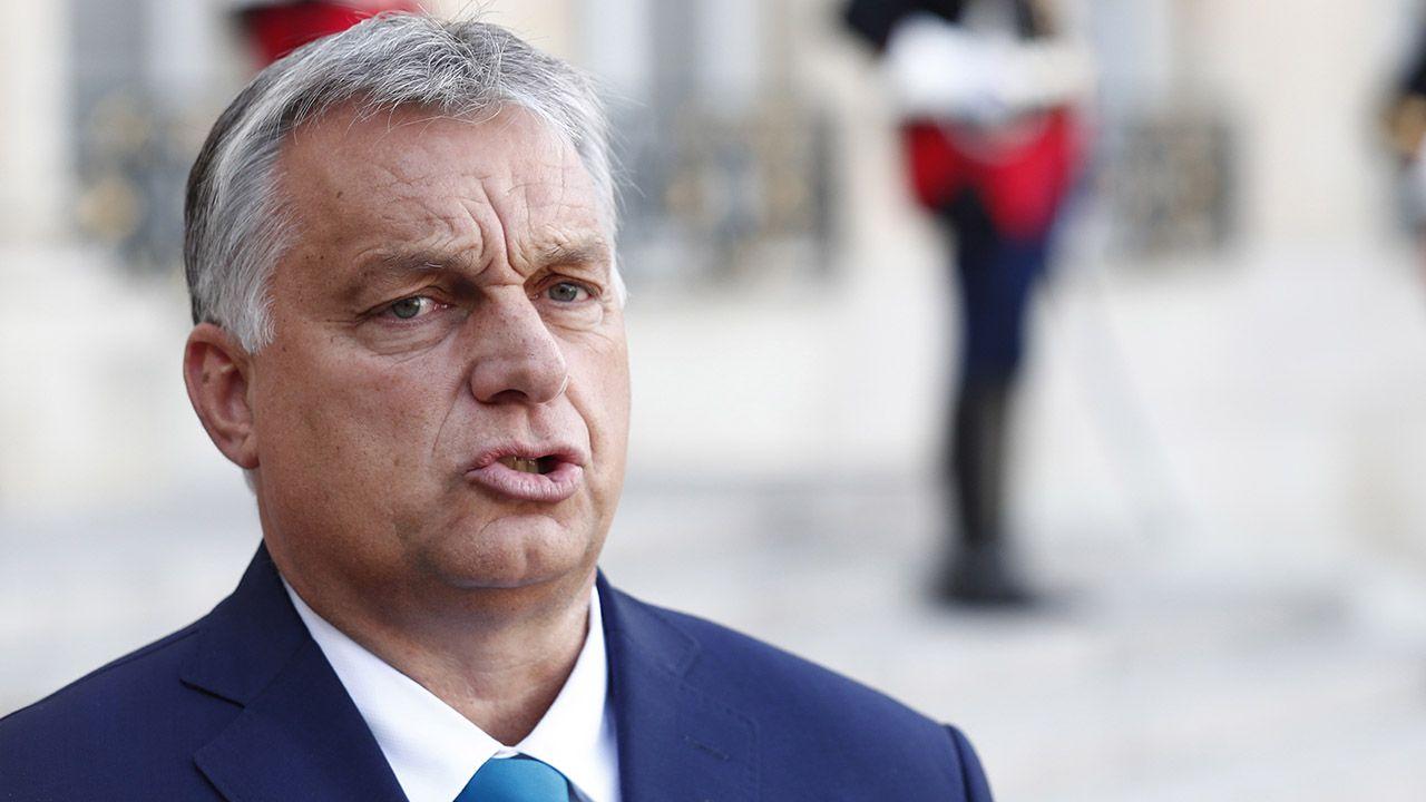 Premier Węgier Viktor Orban (fot. PAP/EPA/IAN LANGSDON)