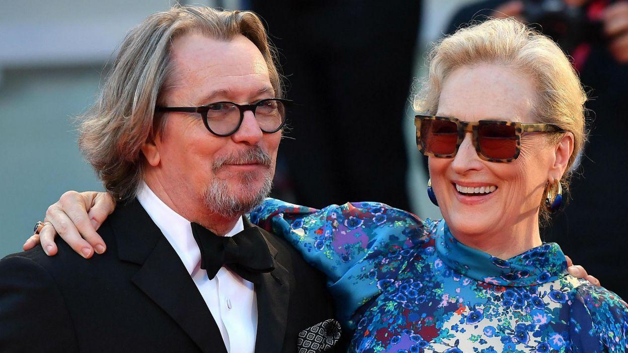Meryl Streep i Gary Oldman (fot. PAP/EPA/ETTORE FERRARI)