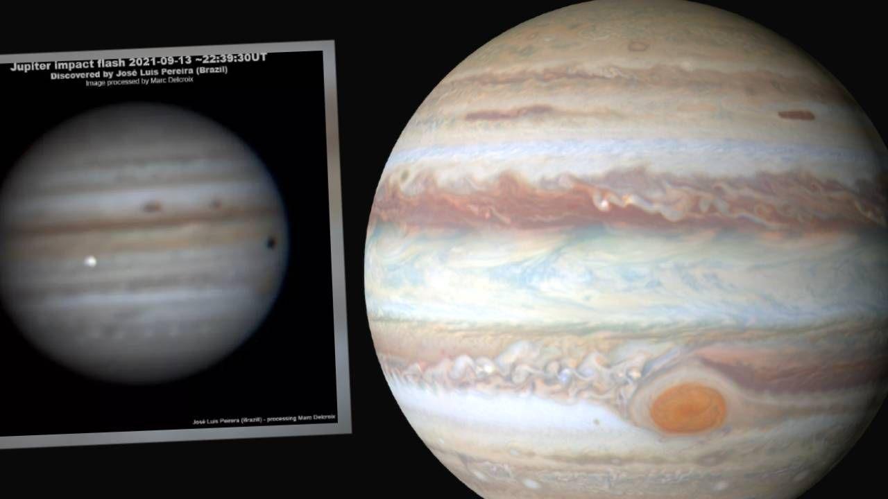 Jowisz regularnie jest obijany przez kosmiczny gruz (fot. NASA/José Luis Pereira)