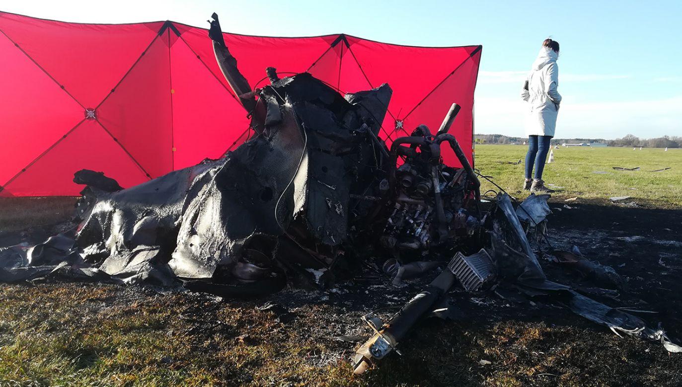 Maszyna miała stanąć w płomieniach (fot. straż pożarna/Nowy Dwór Mazowiecki)