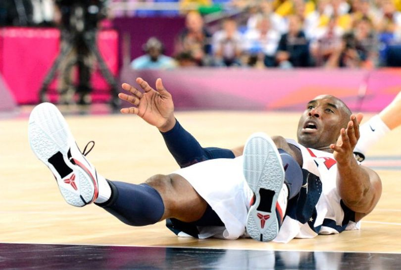 Kobe Bryant tym razem na parkiecie (fot.Getty Images)