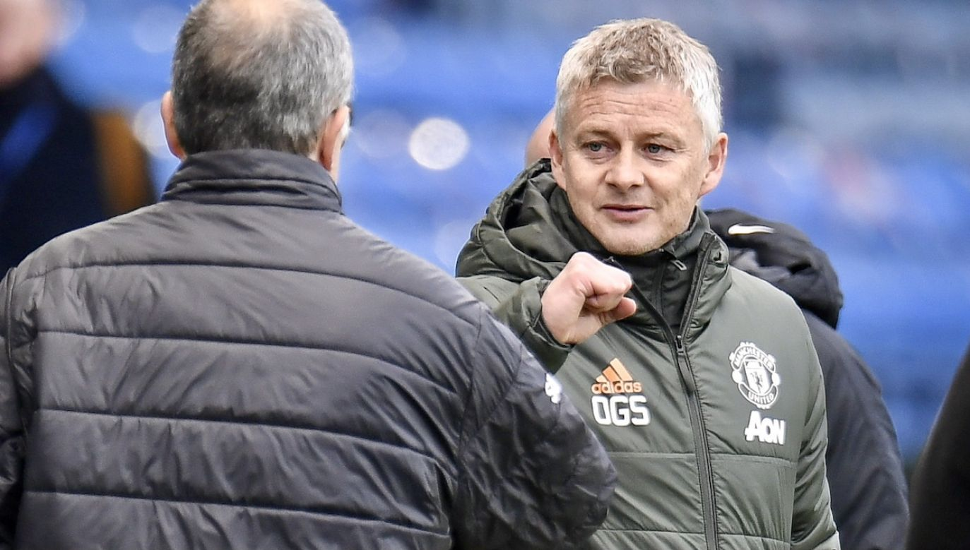 Ole Gunnar Solskjaer to były piłkarz, trener Manchesteru United (fot. PAP/EPA)