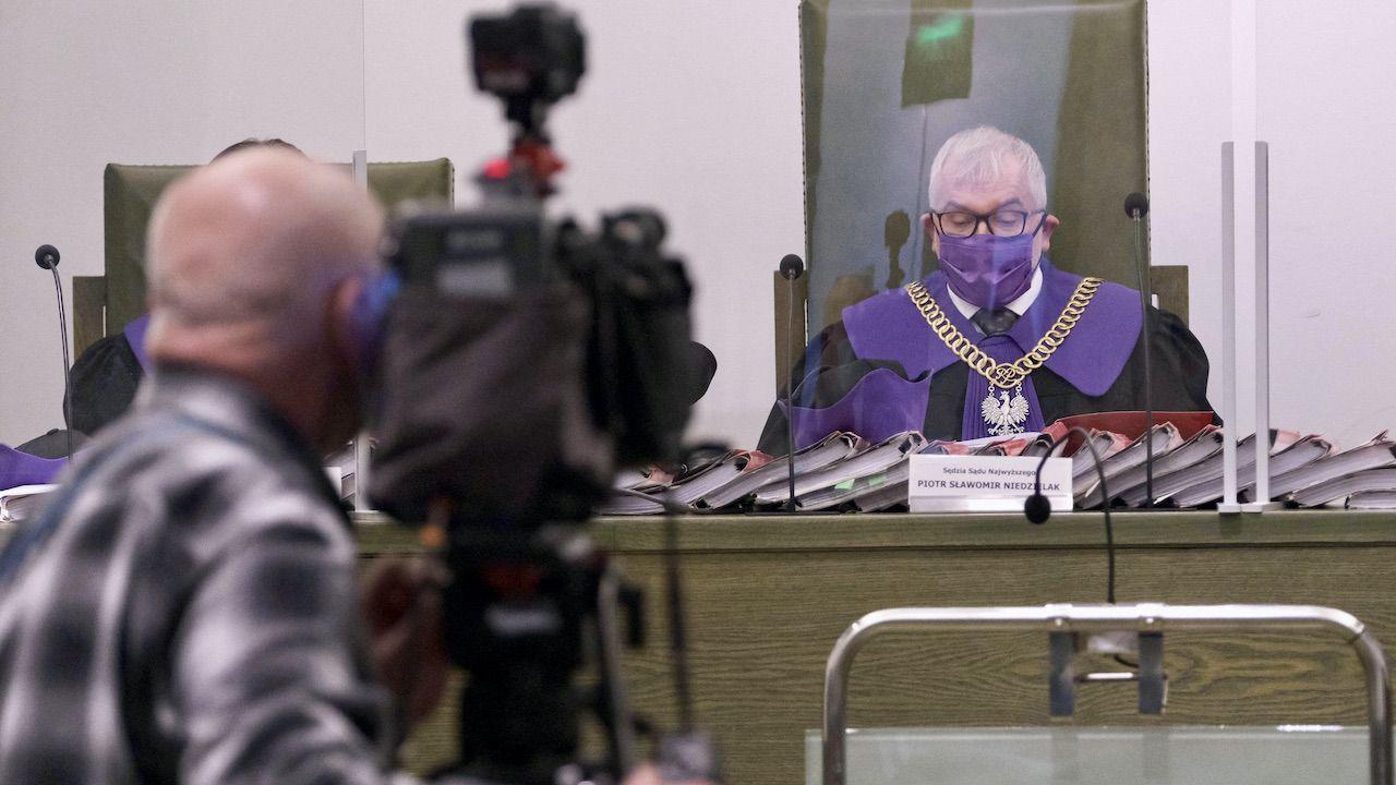 Sędzia Piotr Sławomir Niedzielak na rozprawie Izby Dyscyplinarnej Sądu Najwyższego w Warszawie (fot. arch.PAP/M.Marek)