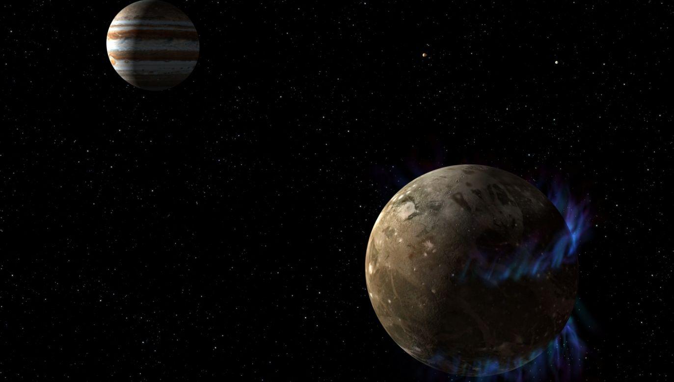 Na Ganimedesie, księżycu Jowisza, może się znajdować podziemny ocean (fot. NASA)
