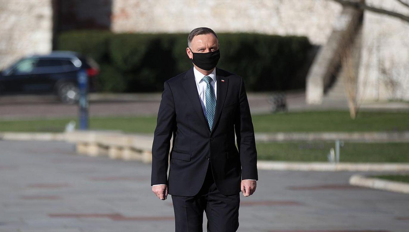 Prezydent Andrzej Duda na Wawelu (fot.  PAP/Łukasz Gągulski)
