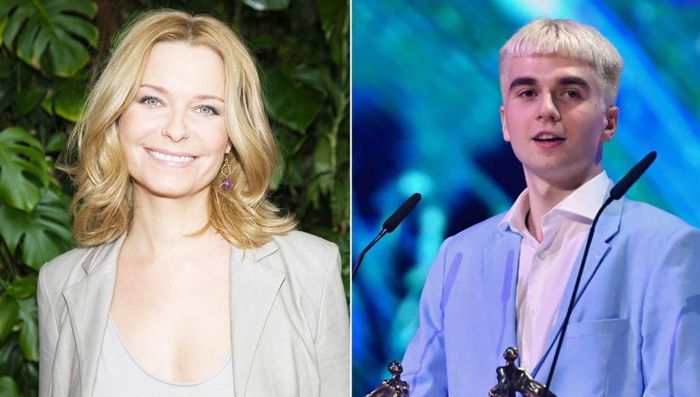 Paulina Młynarska skomentowała współpracę rapera Maty (fot. PAP/StrefaGwiazd/Marcin Kmieciński; PAP/Marcin Bielecki)