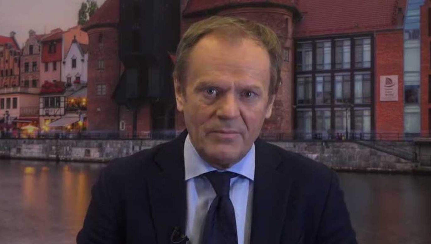 Donald Tusk w nagraniu skierowanym do polityków niemieckiej CDU (fot. YT/cdutv)