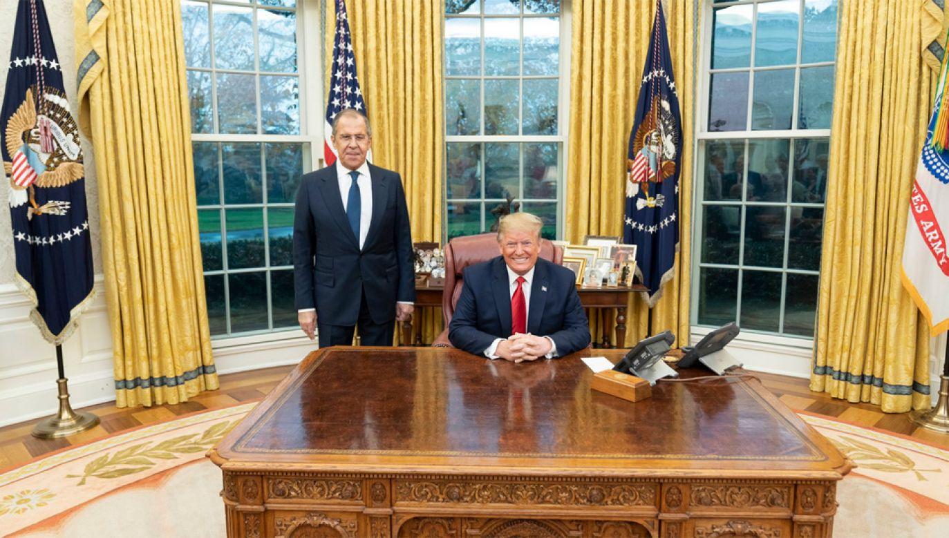 Siergiej Ławrow został podjęty przez Donalda Trumpa w Białym Domu (fot. TT/Donald Trump)