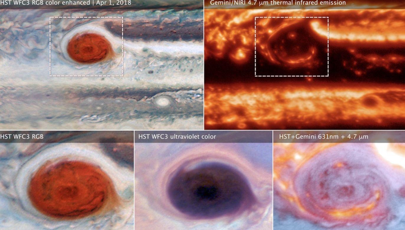 Naukowcy zbadali głębiny systemów burzowych i rozwiązali jedną z tajemnic Wielkiej Czerwonej Plamy na Jowiszu (fot. NASA)
