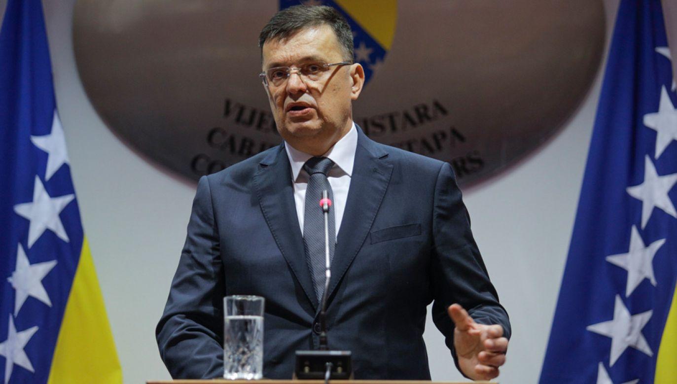 58-letni Zoran Tegeltija jest ekonomistą (fot. TT/Agencja Anadolu)