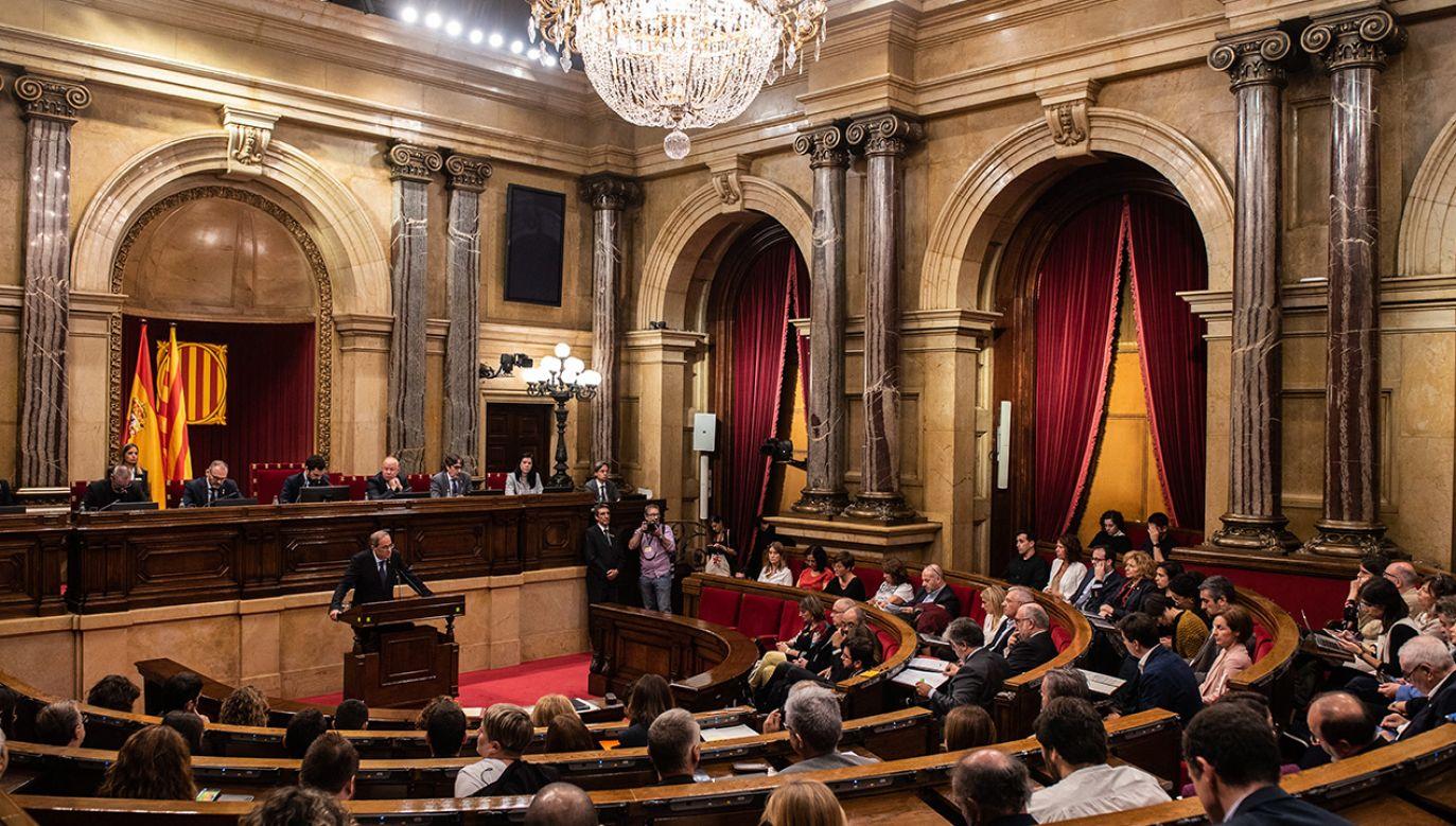 Autonomiczny parlament Katalonii przyjął ustawę dot. niepodległości regionu (fot. Marc Gonzalez Aloma/AFP7/Europa Press via Getty Images)