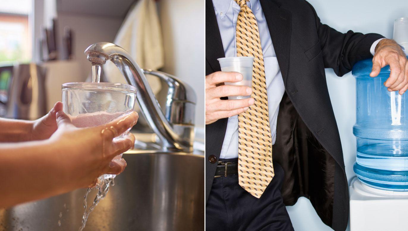 """""""Na stronie Miejskiego Przedsiębiorstwa Wodociągów i Kanalizacji możemy przeczytać, że woda z kranu jest zdrowa, tania i ekologiczna. Jednak urzędnicy chyba nie wierzą w te słowa"""" (fot. Shutterstock/sonsart/AVAVA)"""