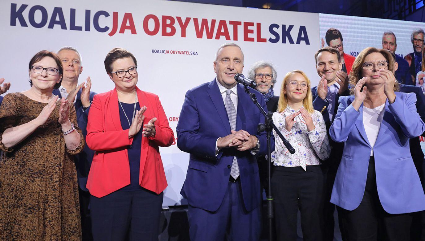 Grzegorz Schetyna podziękował wyborcom (fot. PAP/Paweł Supernak)