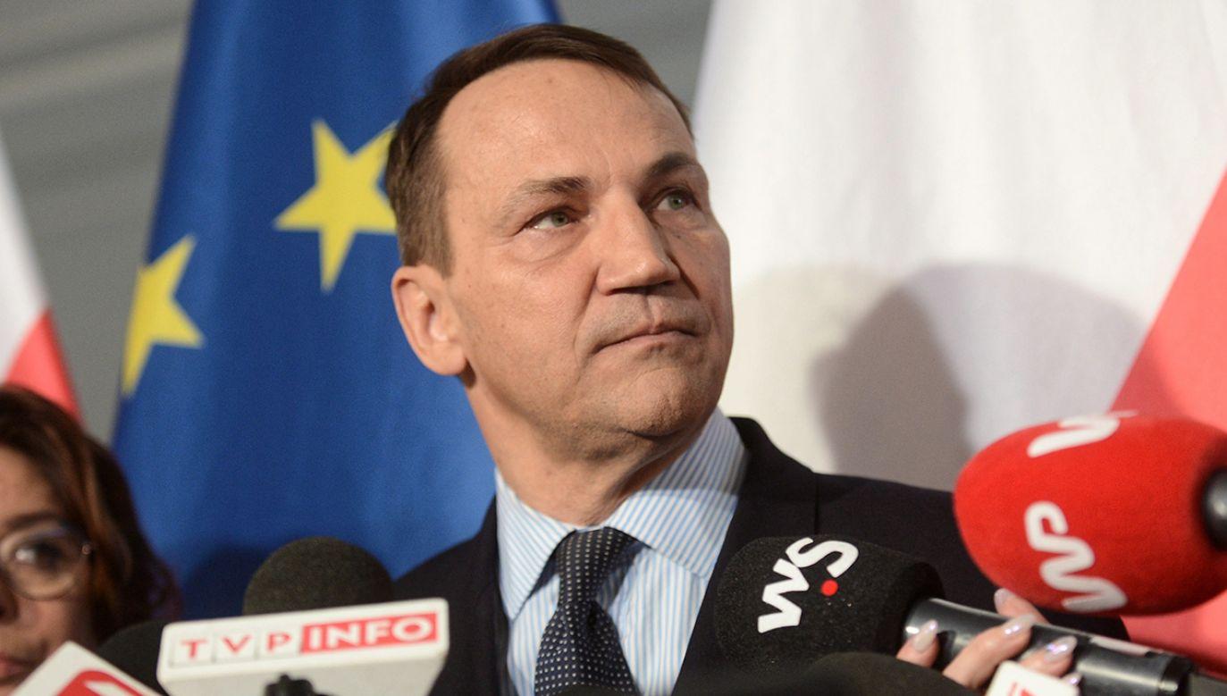 Radosław Sikorski krytykuje prezydenta Andrzeja Dudę (fot. arch. PAP/Marcin Obara