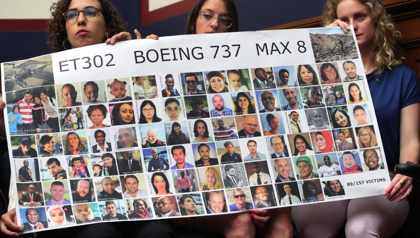 Bliscy ofiar lotu Ethiopian Airlines ET302 w trakcie przesłuchań przed Komitetem Transportu i Infrastruktury (fot. Mark Wilson/Getty Images)