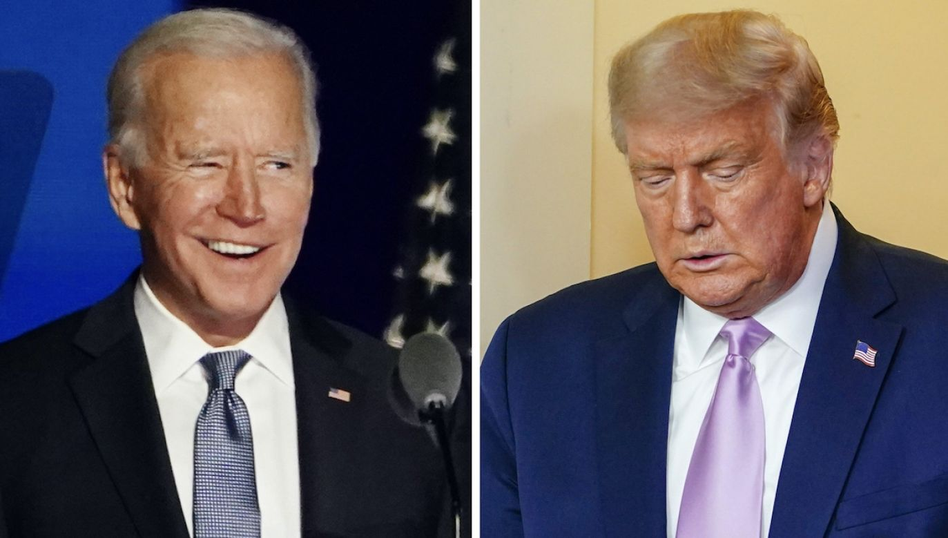 Joe Biden i Donald Trump (fot. PAP/EPA/JIM LO SCALZO)