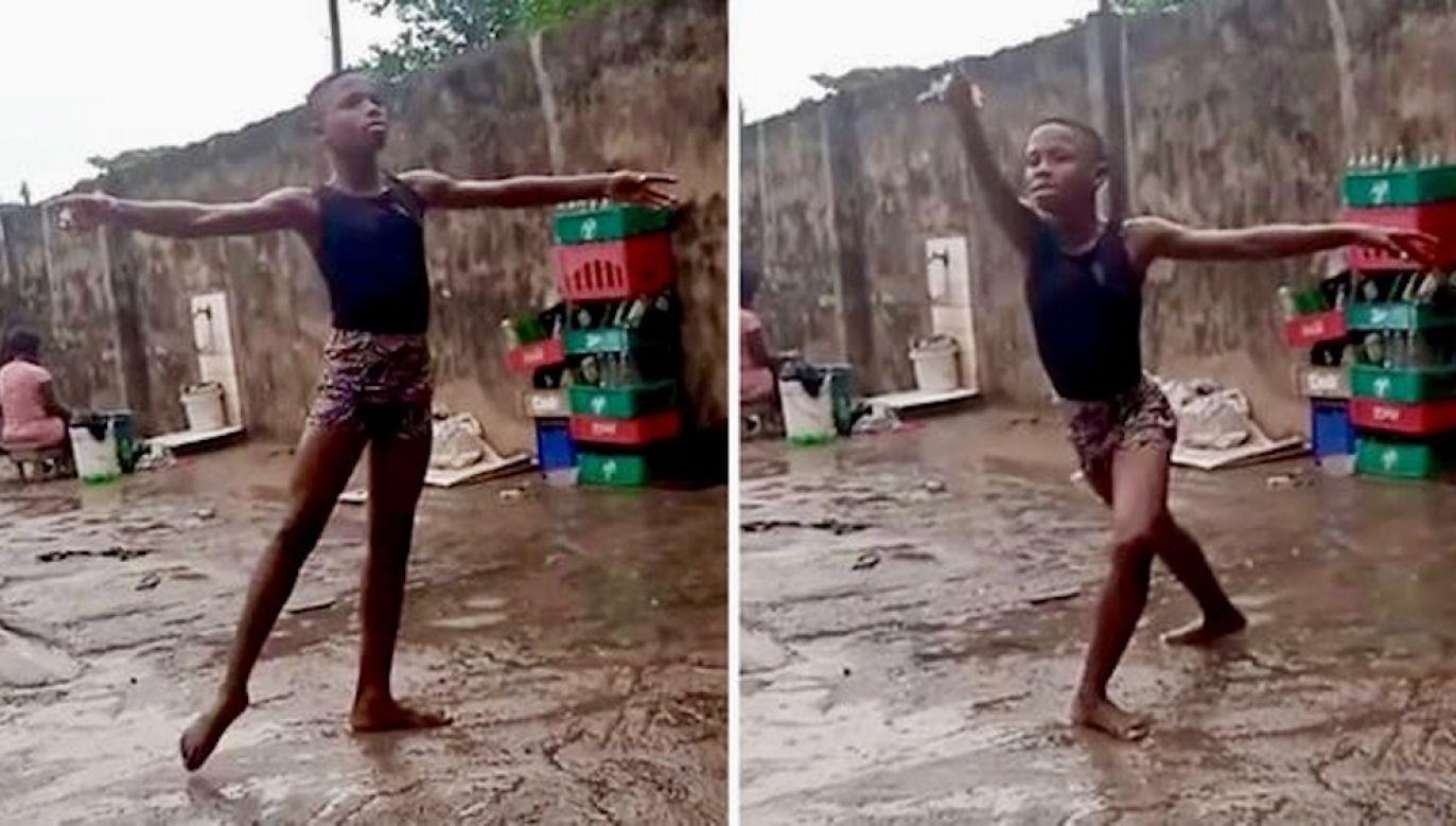 Chłopak z Nigerii zatańczył w błocie na deszczu. Dostał stypendium American Ballet Theatre [WIDEO](fot. Instagram/Leap of Dance Academy)