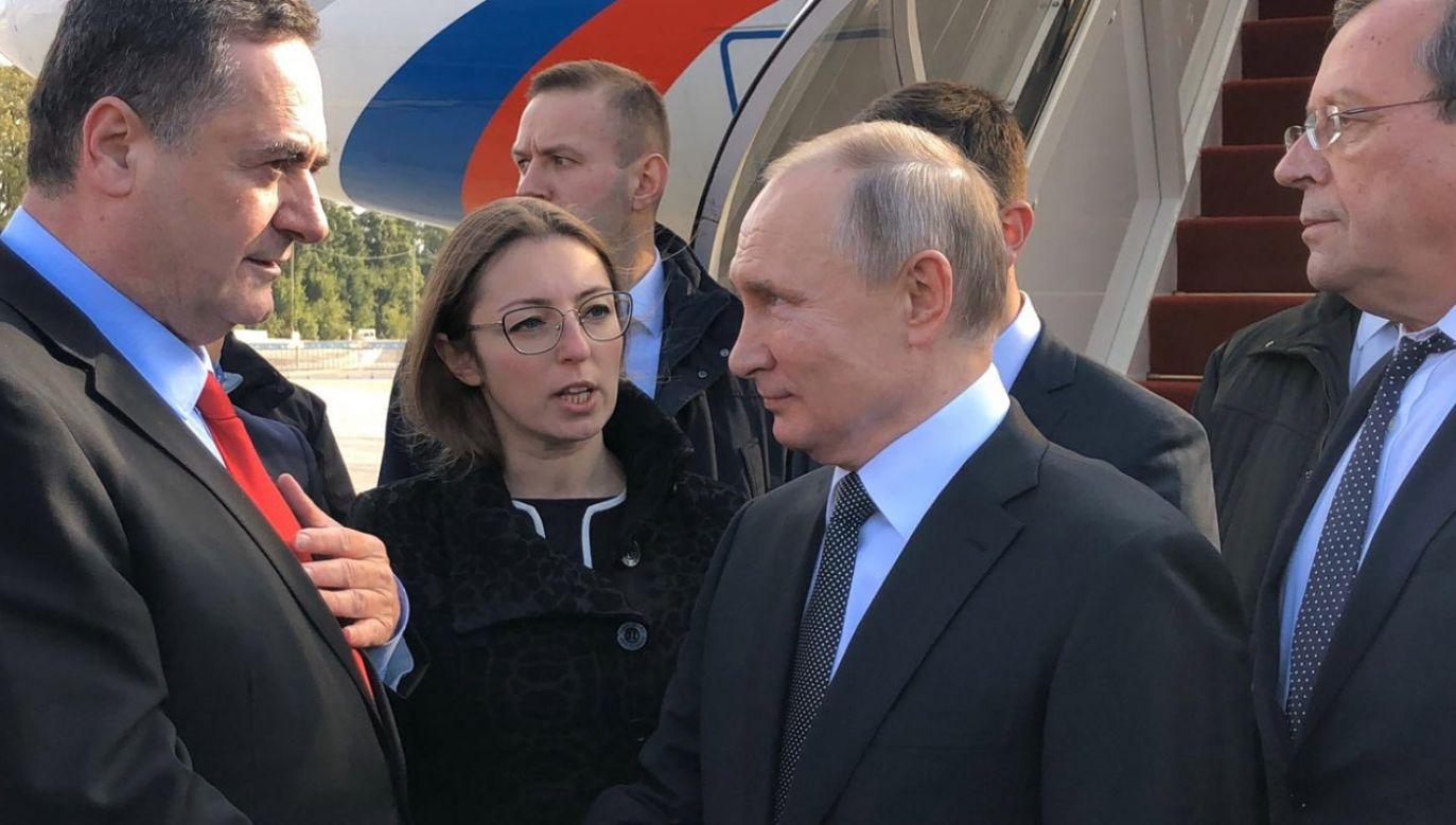 Putin przybył na uroczystości w Jerozolimie (fot. tt/@Israel_katz)