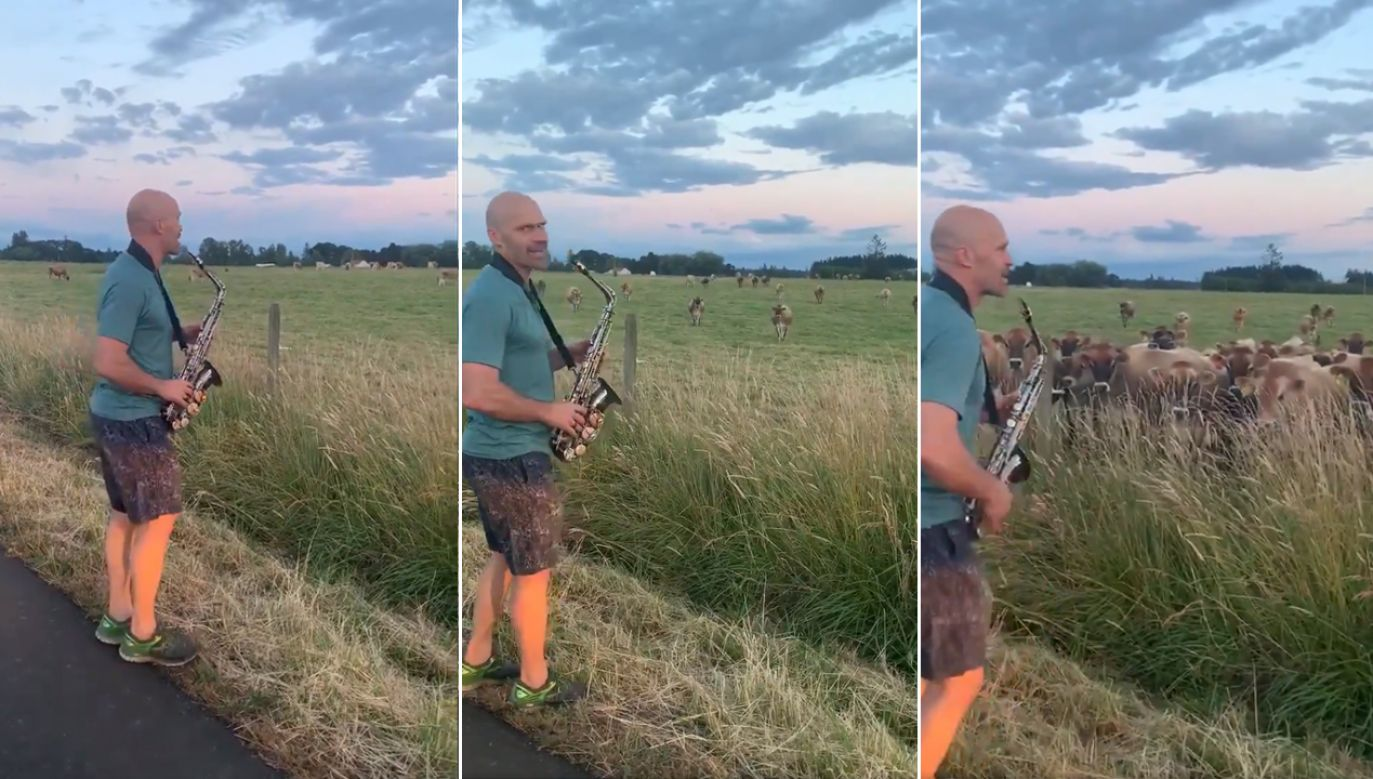 To mój pierwszy występ przed publicznością – tak w nagranycm materiale zapowiada swój występ saksofonista (fot. TT/Erin Herrmann)