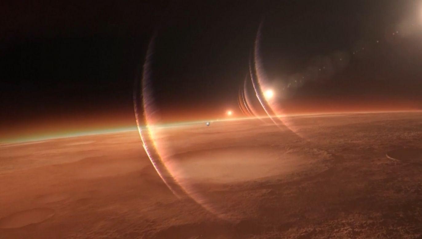 Chińska sonda lecąca w kierunku Marsa zrobiła zdjęcie Ziemi i księżyca (fot. CNCCTV - CHINA CENTRAL TELEVISION)