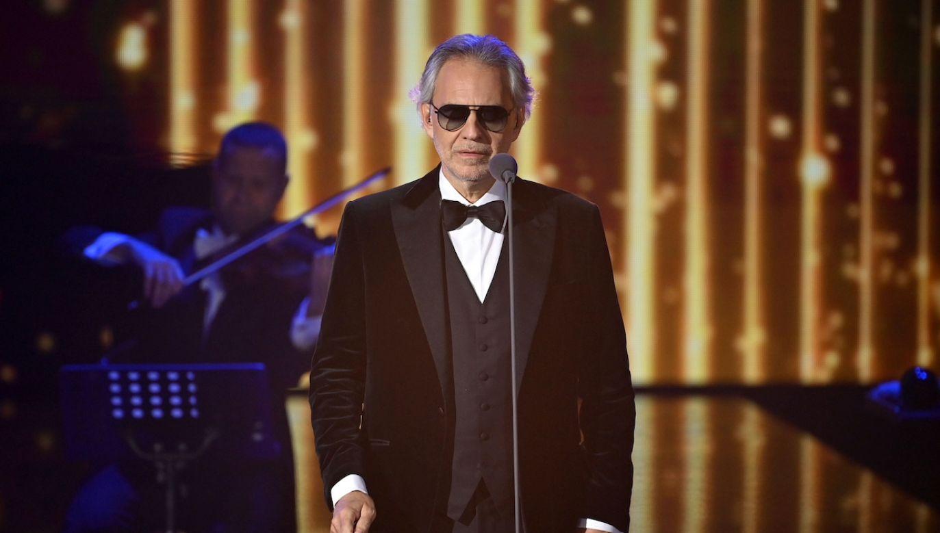 Andrea Bocelli zaśpiewał m.in. piosenki ze swojej najnowszej płyty (fot. Reuters \ POOL New)