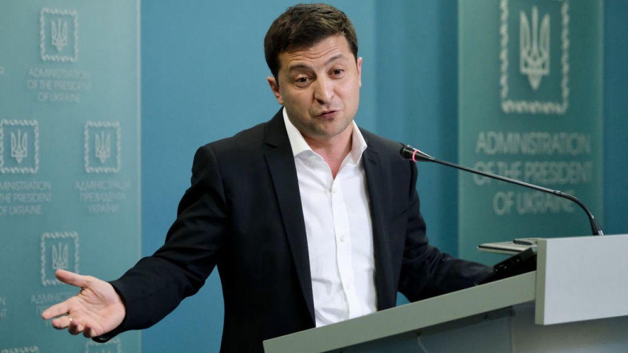 Prezydent Ukrainy Wołodymyr Zełenski (fot. Sean Gallup/Getty Images)