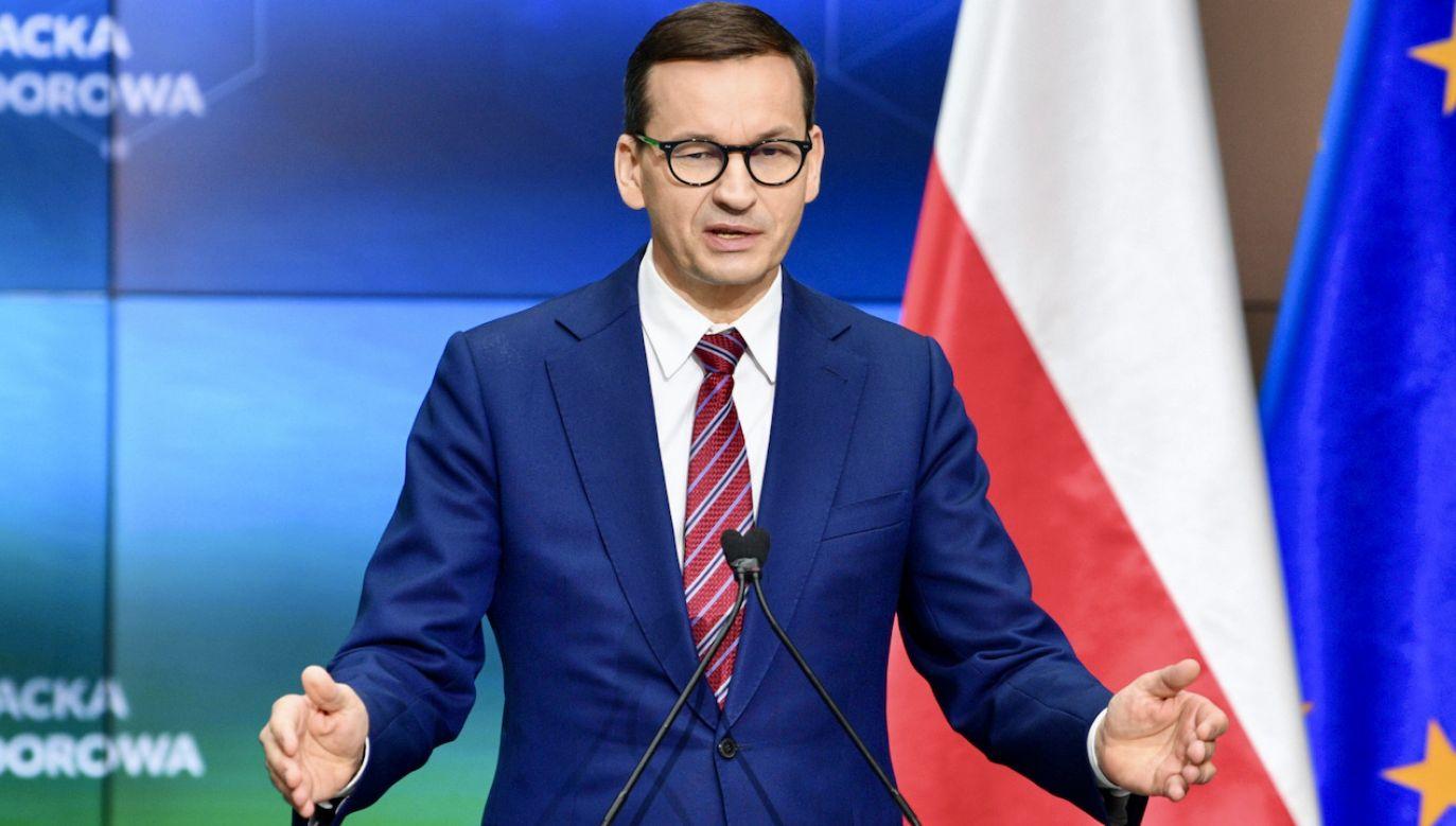 Premier Mateusz Morawiecki (fot. PAP/D.Delmanowicz)