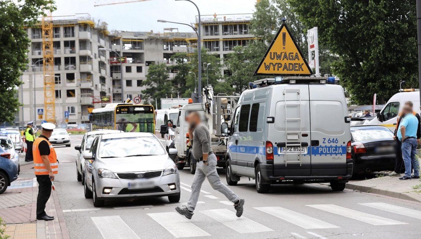Kierowca został zatrzymany (fot. PAP/Rafał Guz)