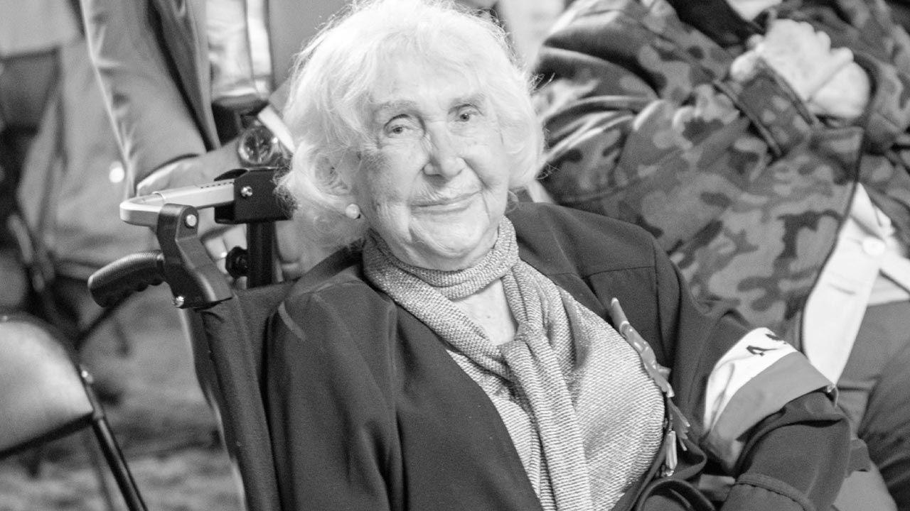 Lucyna Adamkiewicz była łączniczką w Powstaniu Warszawskim (fot. TT/MuzeumPowstania1944)