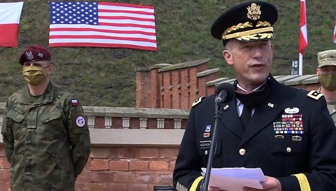John Kolasheski wyznaczony na dowódcę reaktywowanego V Korpusu (fot. TVP Info)