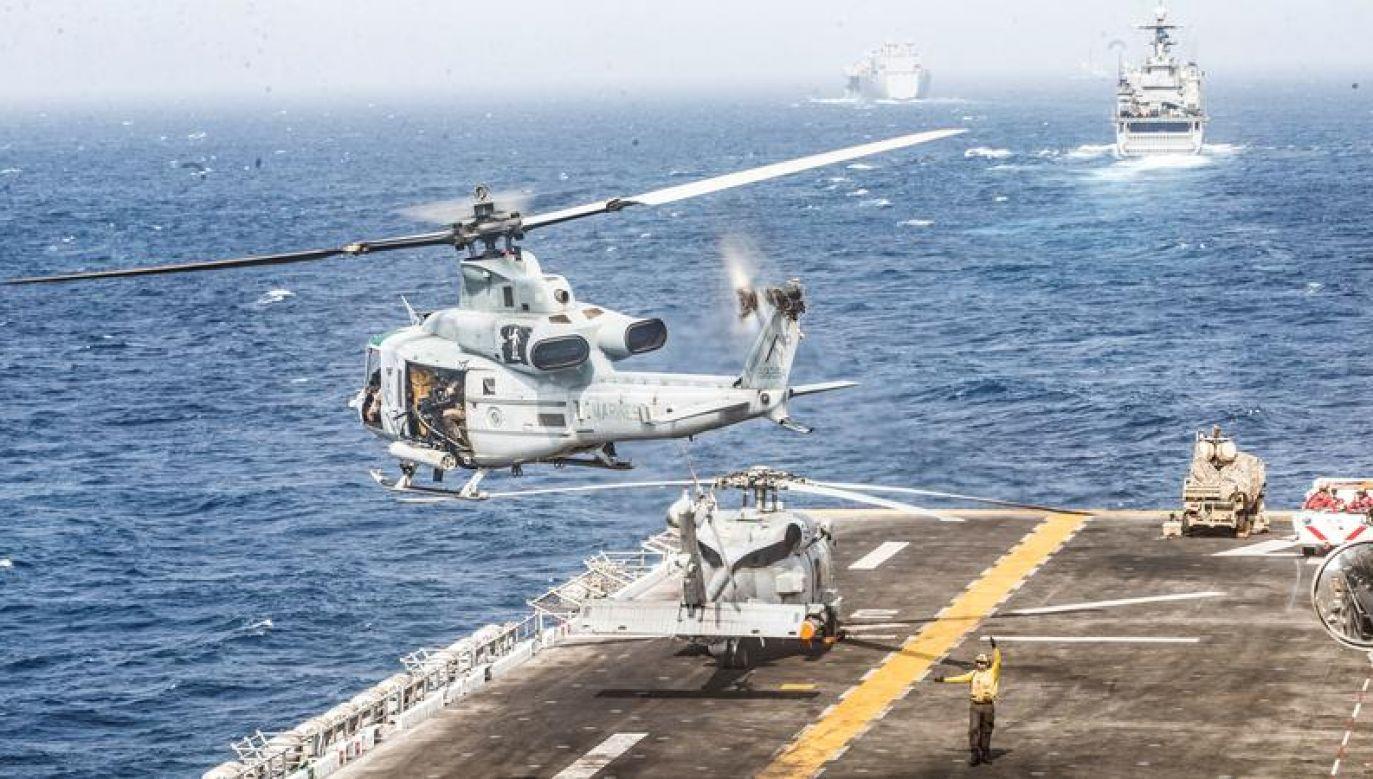USA wraz z Wielką Brytania zagroziły Iranowi poważnymi konsekwencjami (fot. Dalton Swanbeck/U.S. Navy/Handout via REUTERS)
