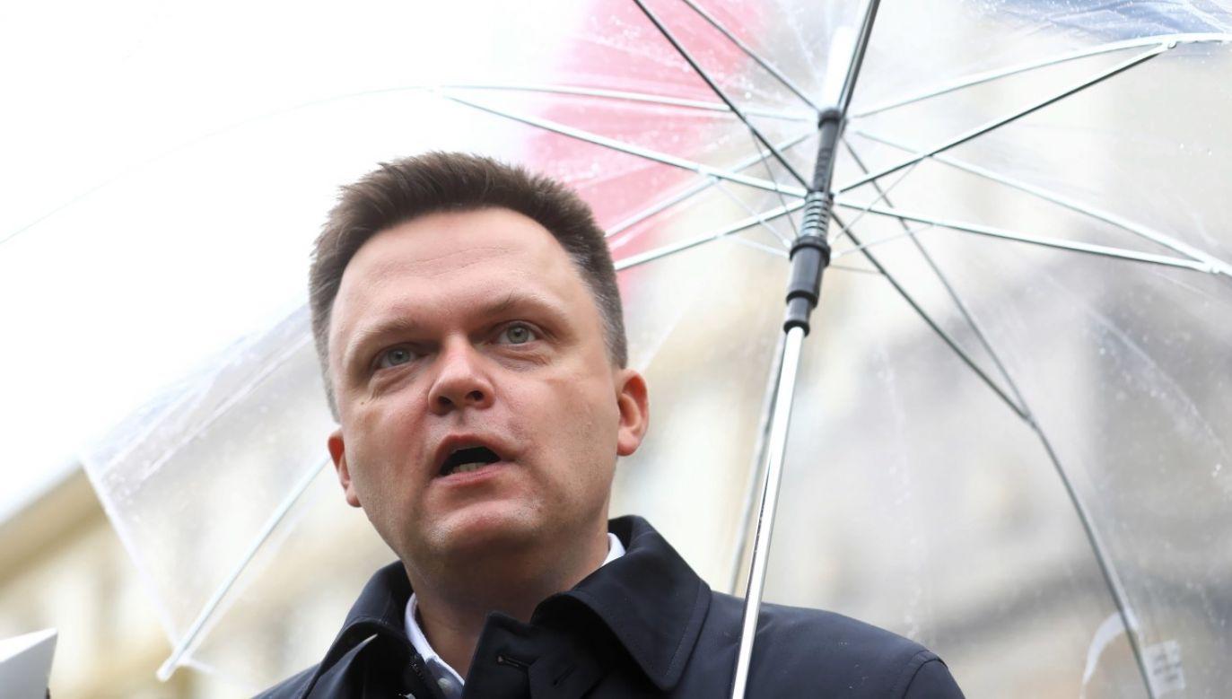 Były prezenter telewizyjny, obecnie działacz społeczny i polityczny, kandydat na urząd prezydenta RP w pierwszych i drugich wyborach w 2020 Szymon Hołownia (fot. arch PAP / Rafał Guz)