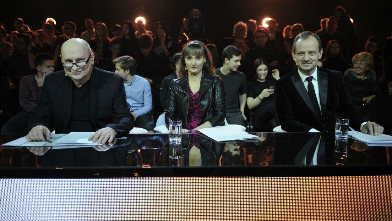 Ich występy ocenili znani i cenieni jurorzy: Włodek Pawlik, Katarzyna Budnik-Gałązka oraz Marcin Nałęcz-Niesiołowski (fot. N. Młudzik/TVP)