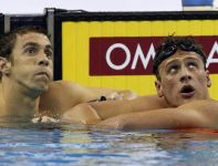 Michael Phelps i Ryan Lochte (fot. PAP/EPA)