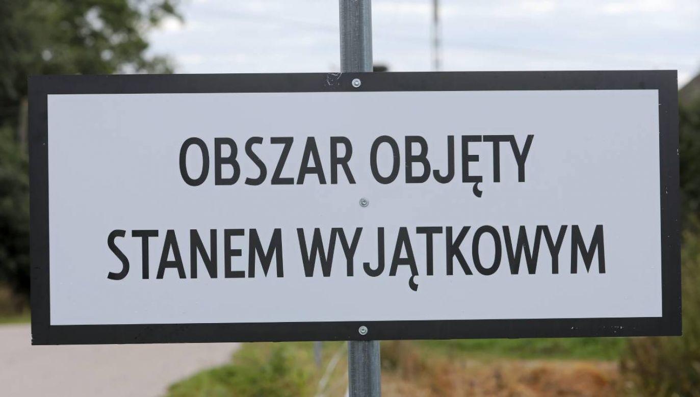 Stan wyjątkowy na granicy z Białorusią trwa od 2 września (fot.PAP/Artur Reszko)