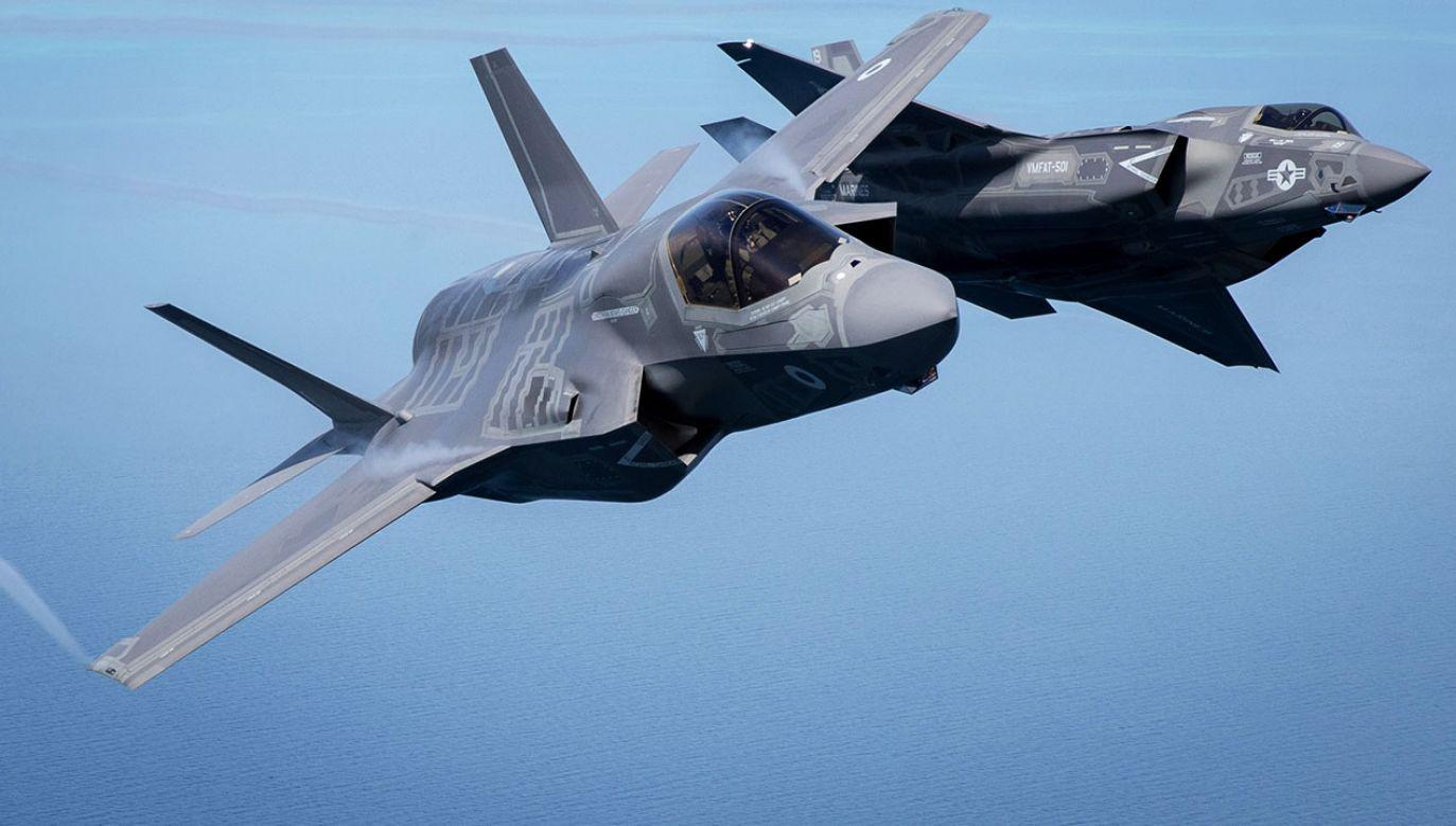 F-35 to najnowocześniejszy myśliwiec na świecie. Według lidera SLD wyposażenie polskich Sił Powietrznych w ten samolot to absurd (fot. Matt Cardy/Getty Images)