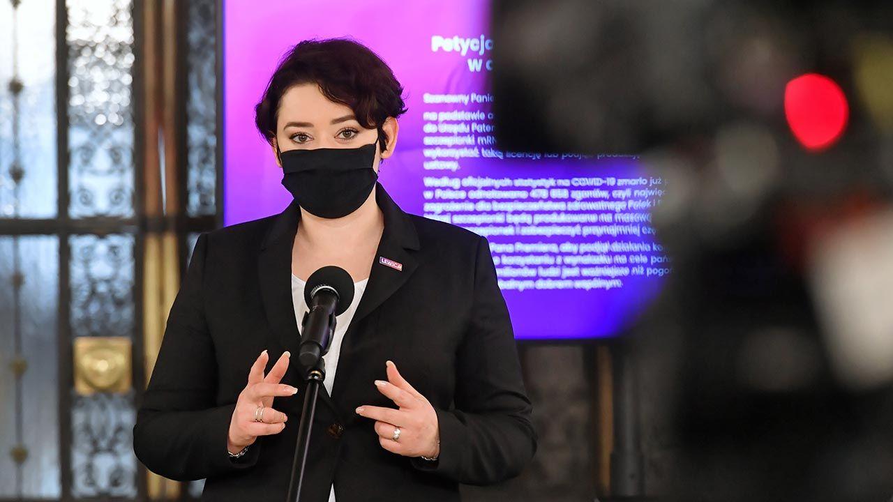 """Anna Maria Żukowska nazywa KPO """"Planem Marshalla XXI wieku"""" (fot. PAP/Piotr Nowak)"""