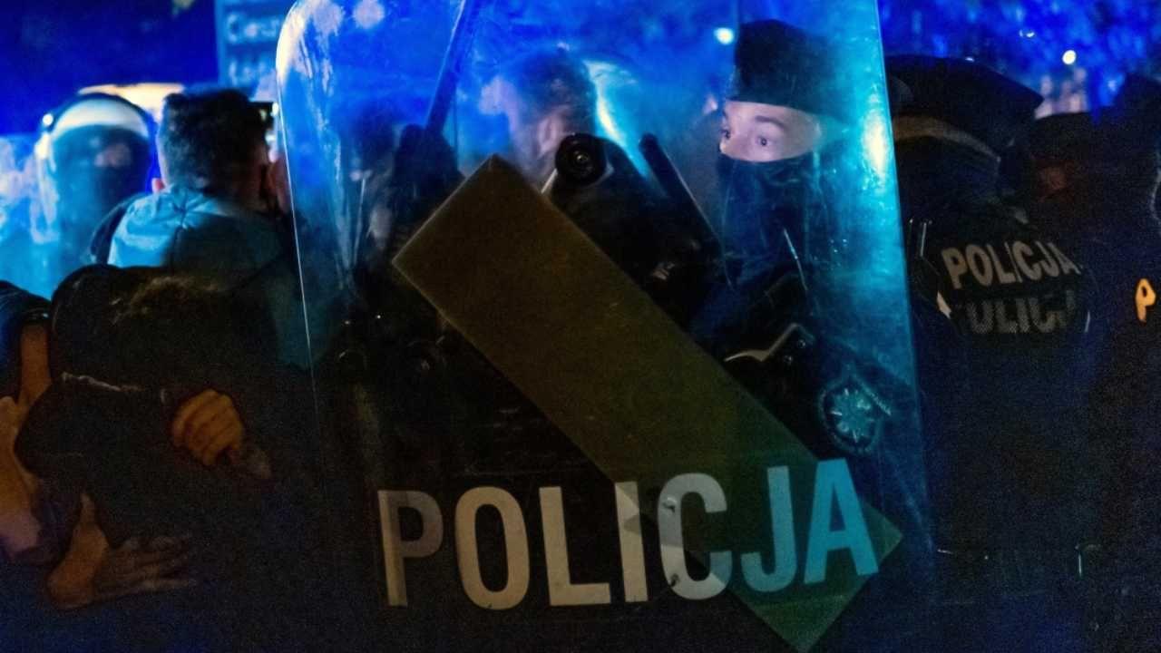 W Gdyni interweniowała policja (fot. PAP/Andrzej Grygiel)