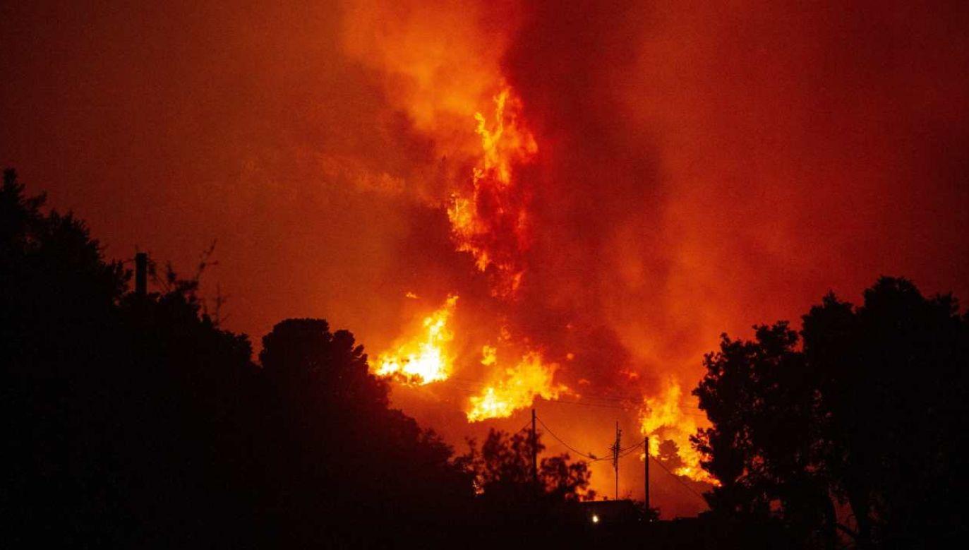 Pożar, w którym śmierć poniósł ratownik, wybuchł po tym, jak na rodzinnej imprezie wystrzelono materiały pirotechniczne (fot. PAP/EPA/ETIENNE LAURENT)
