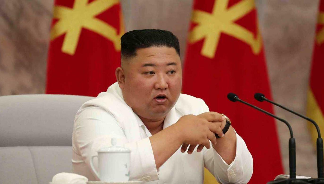 Kim Dzong Un ma czerpać profity z działalności przestępczej (fot. TT/NorthKoreaDPRK/KCNA)