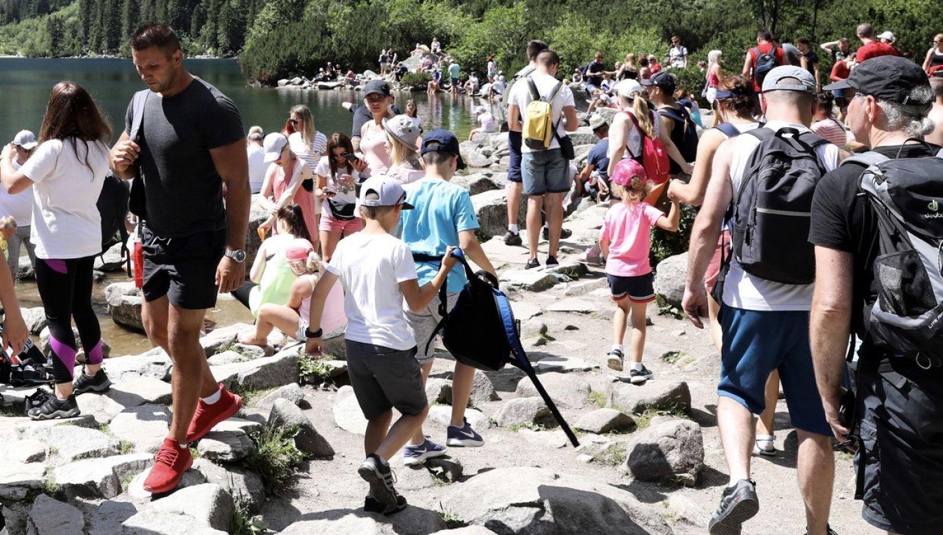 W czerwcu na szlakach było ok. 70 tys. osób (fot. PAP/Grzegorz Momot, zdjęcie ilustracyjne)