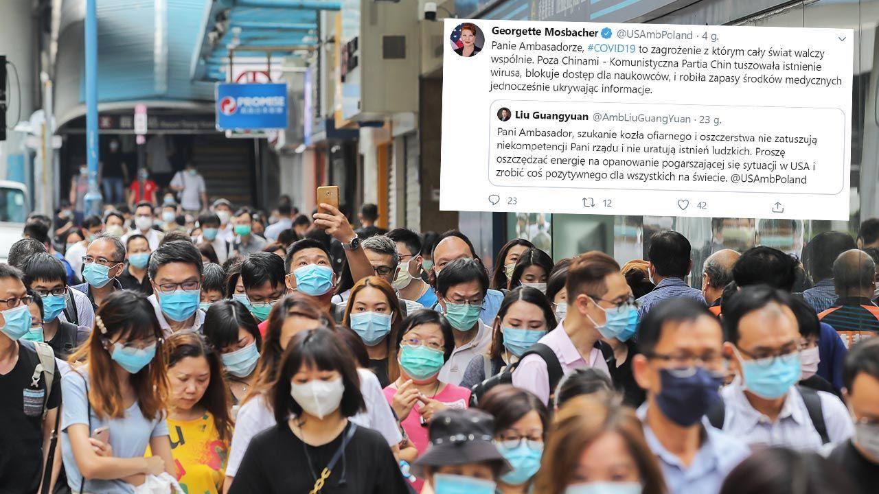 Mosbacher: Chiński rząd jest odpowiedzialny za kryzys na całym świecie, i żadne kłamstwa tego nie zatuszują (fot. Paul Yeung/Bloomberg via Getty Images)