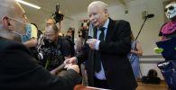 Prezes PiS Jarosław Kaczyński (fot. Sean Gallup/Getty Images)