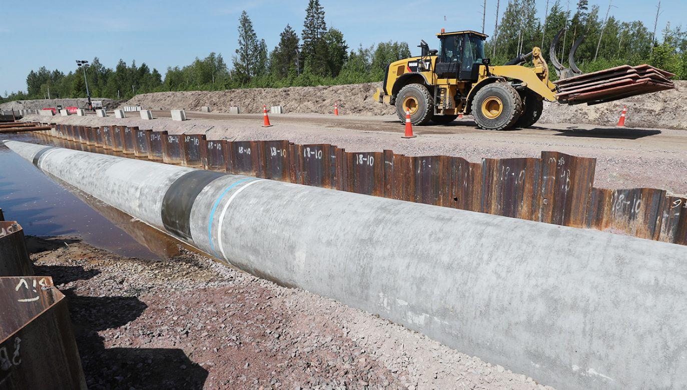 Budowa Nord Stream 2 jest bliska ukończenia (fot. Alexander Demianchuk\TASS via Getty Images)