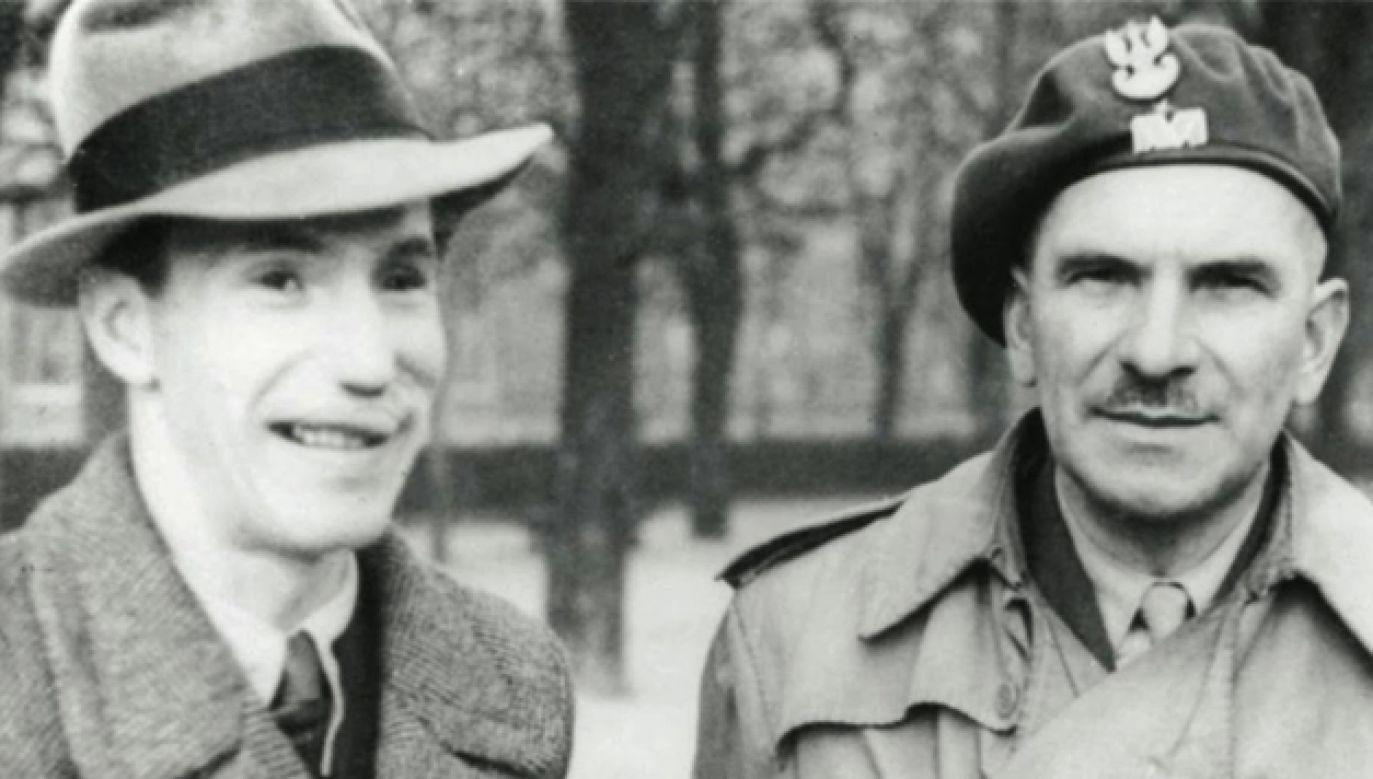 Gen. Stanisław Sosabowski wraz synem Stanisławem Januszem (fot. NAC)