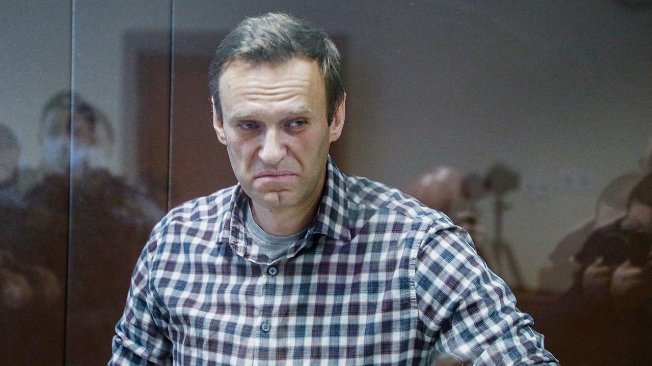 Wiadomość od Aleksieja Nawalnego z więzienia  (fot. PAP/EPA/YURI KOCHETKOV)