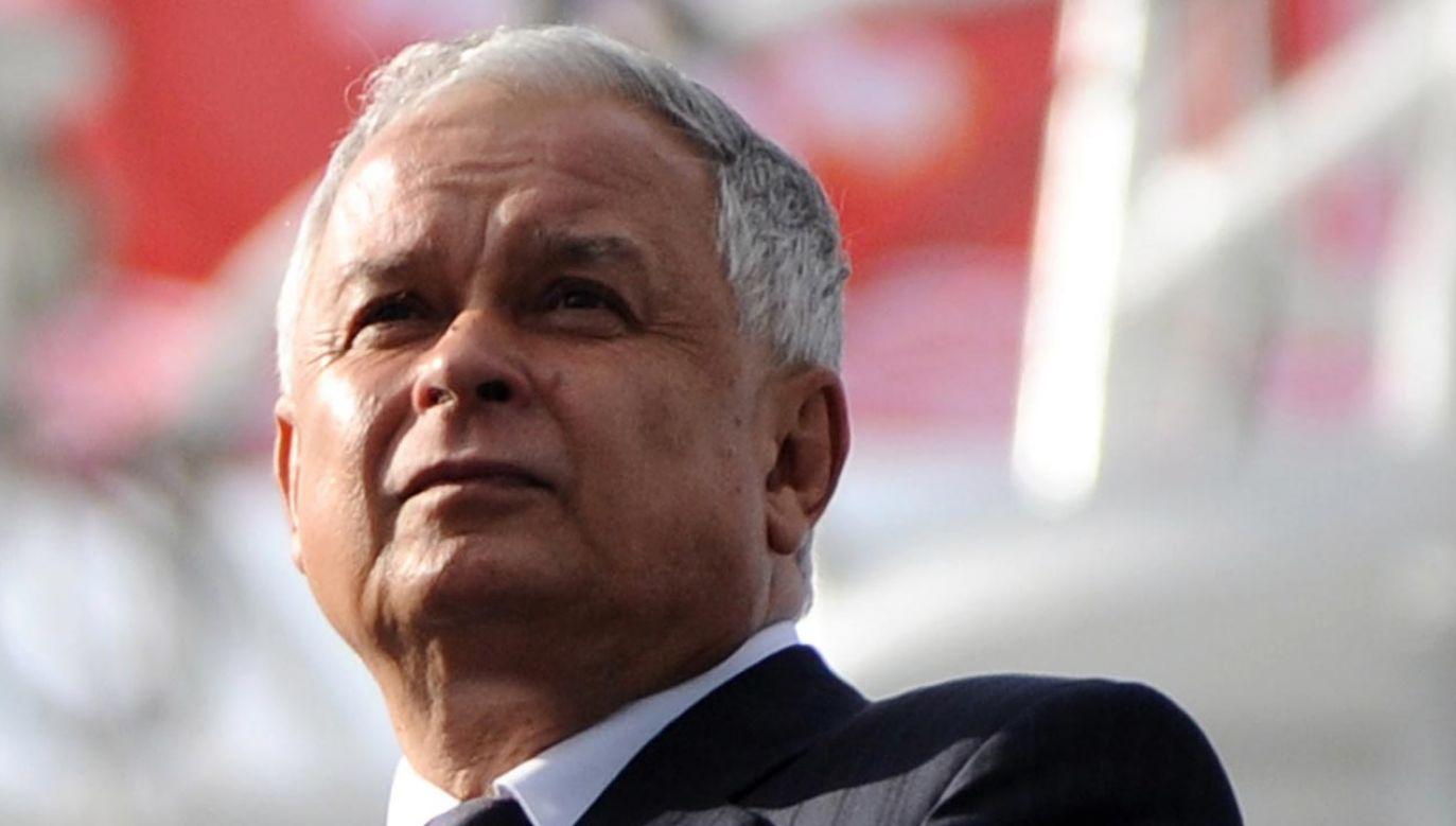 W 2005 r. został wybrany na urząd Prezydenta RP. Zginął 10 kwietnia 2010 r. w katastrofie samolotu pod Smoleńskiem (fot. PAP/Jacek Turczyk)